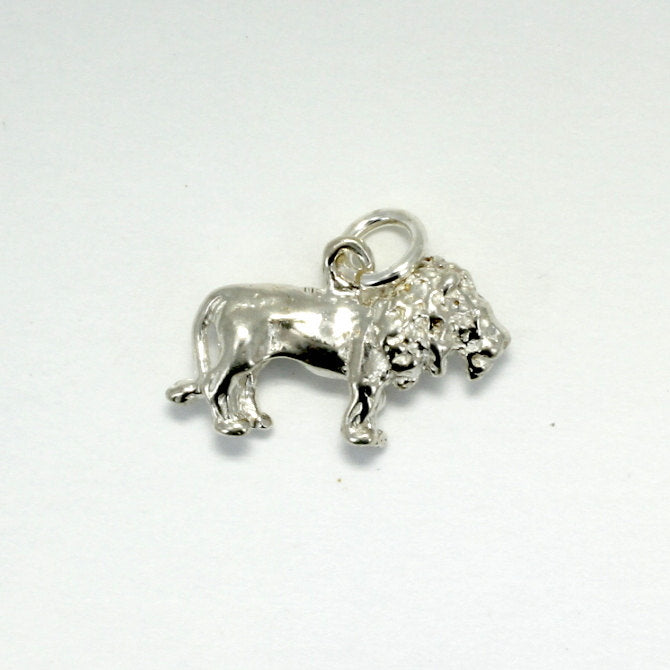 925 Sterling Silver Lion Charm