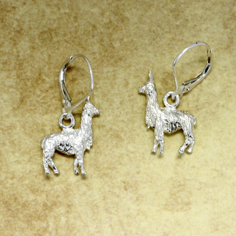 925 Sterling Silver Llama Earrings