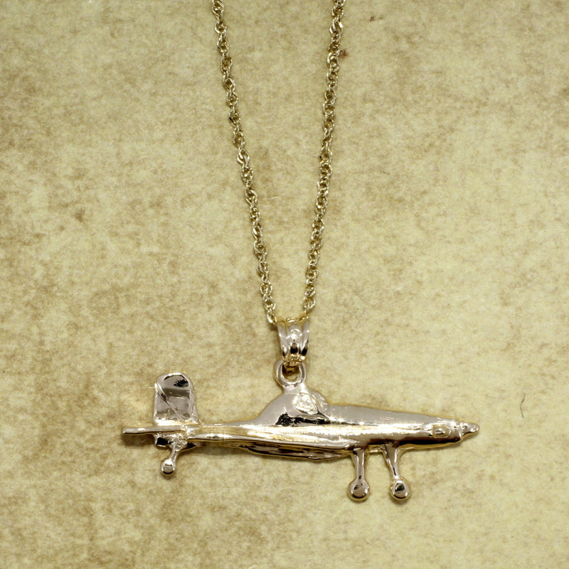 Air Tractor Necklace in 14kt gold