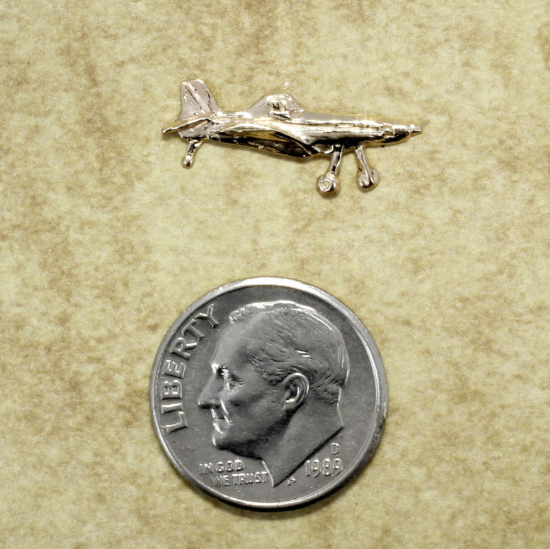 Airplane Jewelry, Airplane Tie Tack, Air Tractor Lapel in 14kt gold