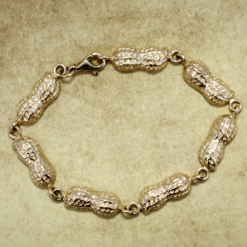 14kt Solid Gold Medium Peanut Bracelet