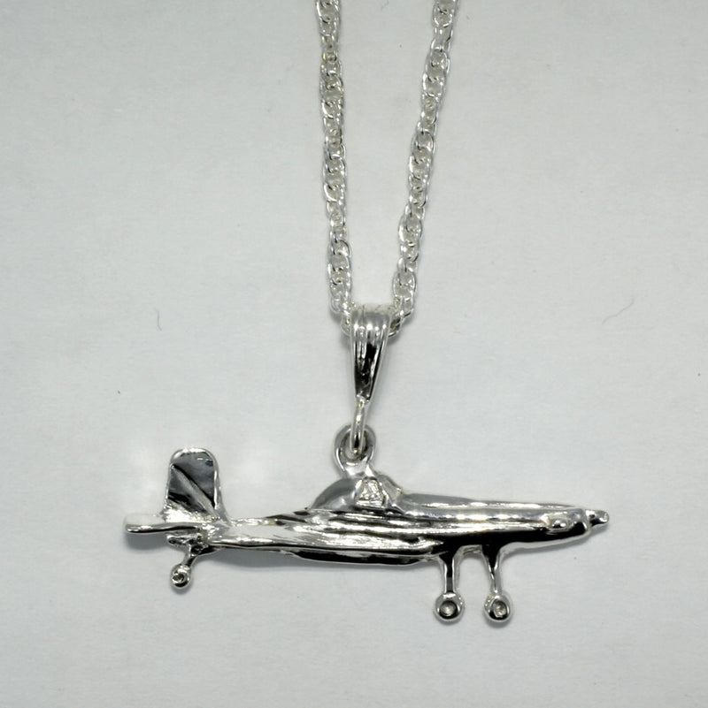 Air Tractor Necklace in Sterling Silver, Airplane Necklace for her, Crop duster necklace