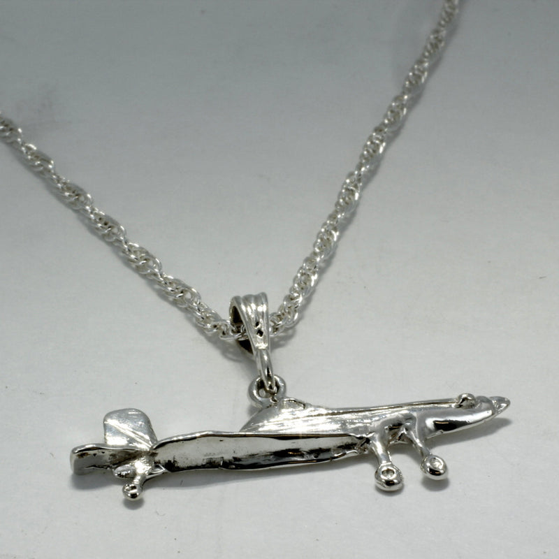 Air Tractor Crop Duster Necklace in Sterling Silver