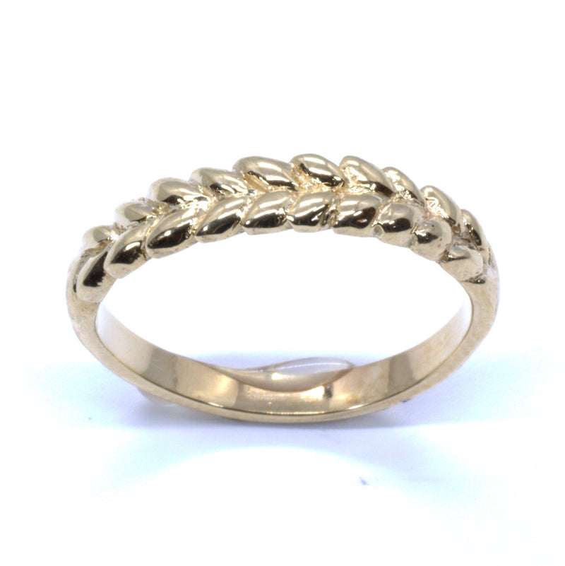 Ladies Wheat Wedding Band Ring