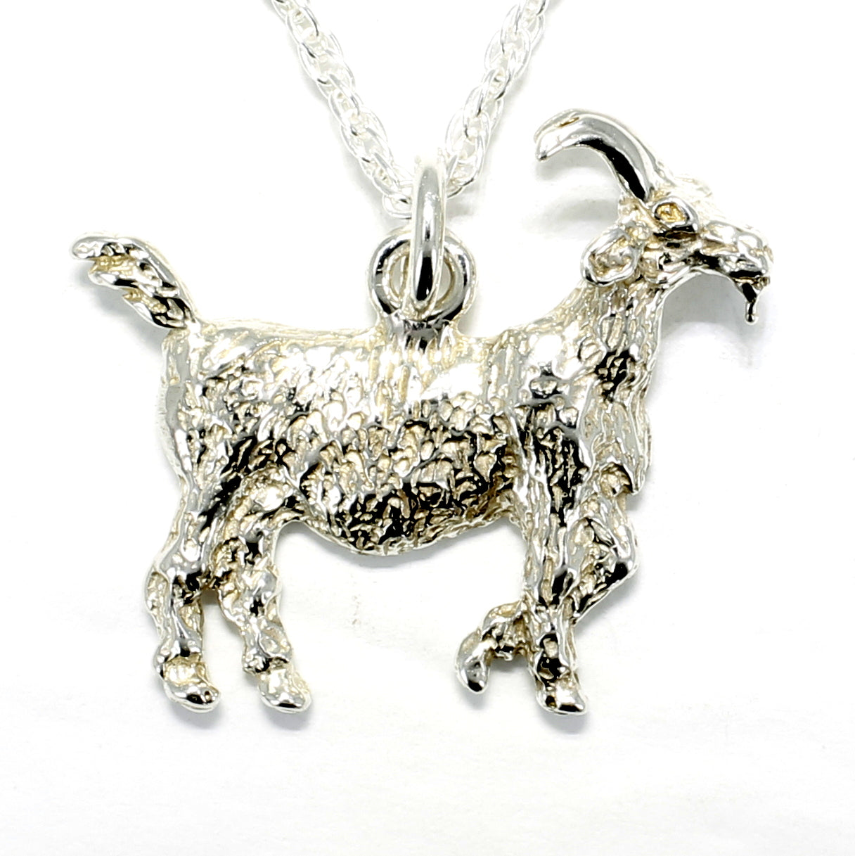 925 Sterling Silver Muntain Goat Charm Made in USA