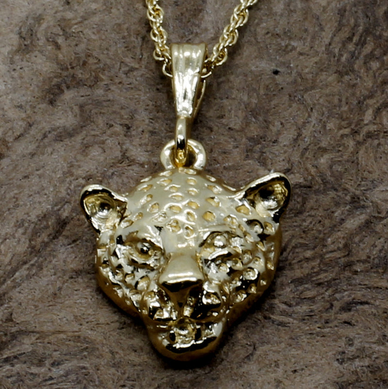 Medium Size Gold Vermeil Leopard Necklace For Her