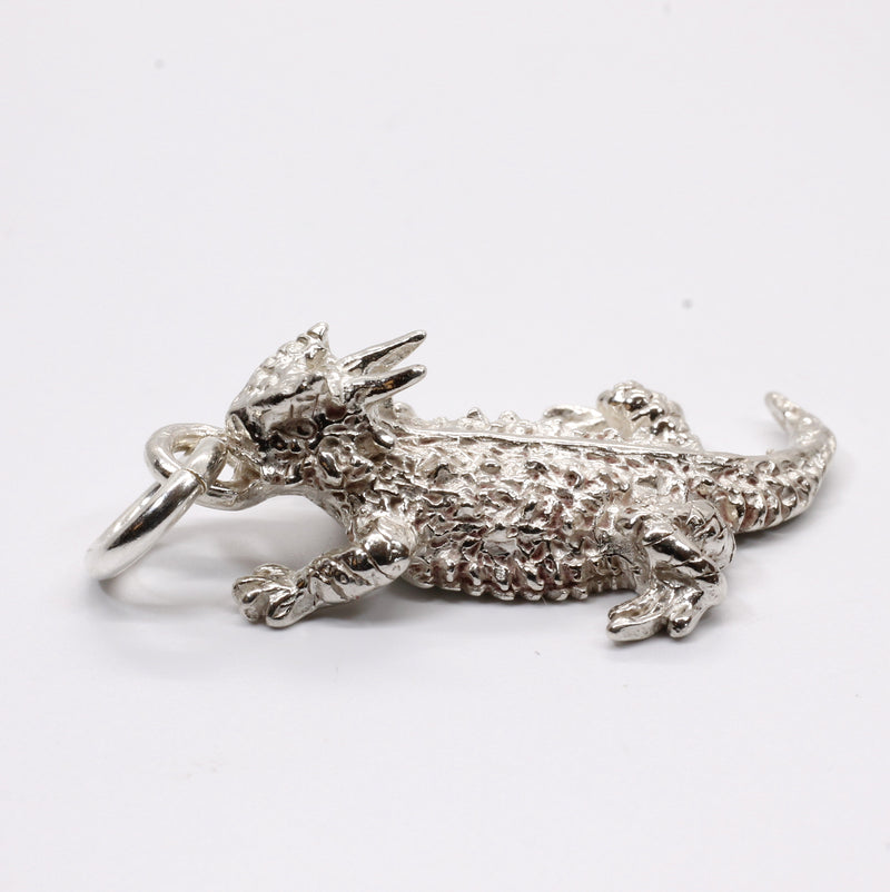 Texas Horn Frog Charm for charm bracelet in Sterling Silver