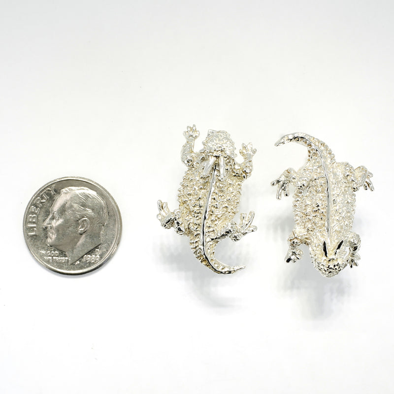 Silver Horny Toad Cuff Links for Men