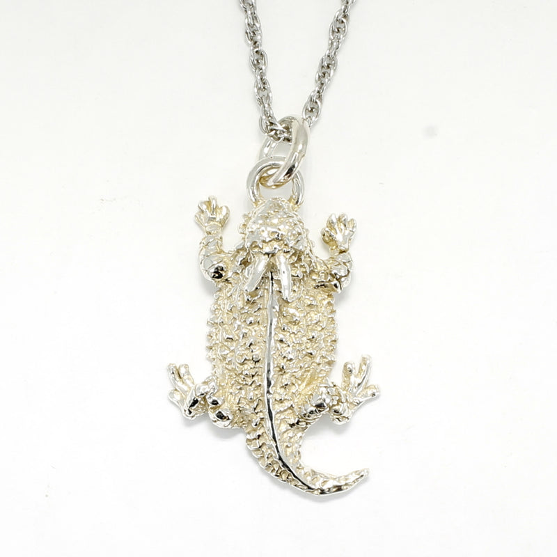 Silver Horned Toad Necklace