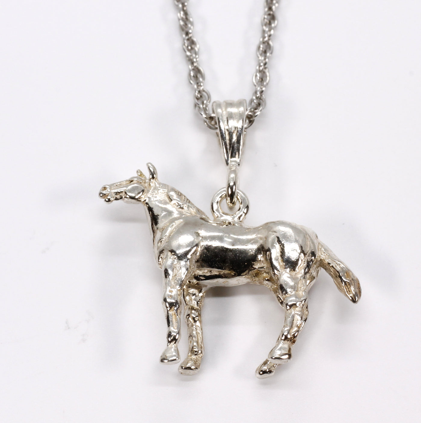 7//8 inch tall Sterling Silver Goat Pendant