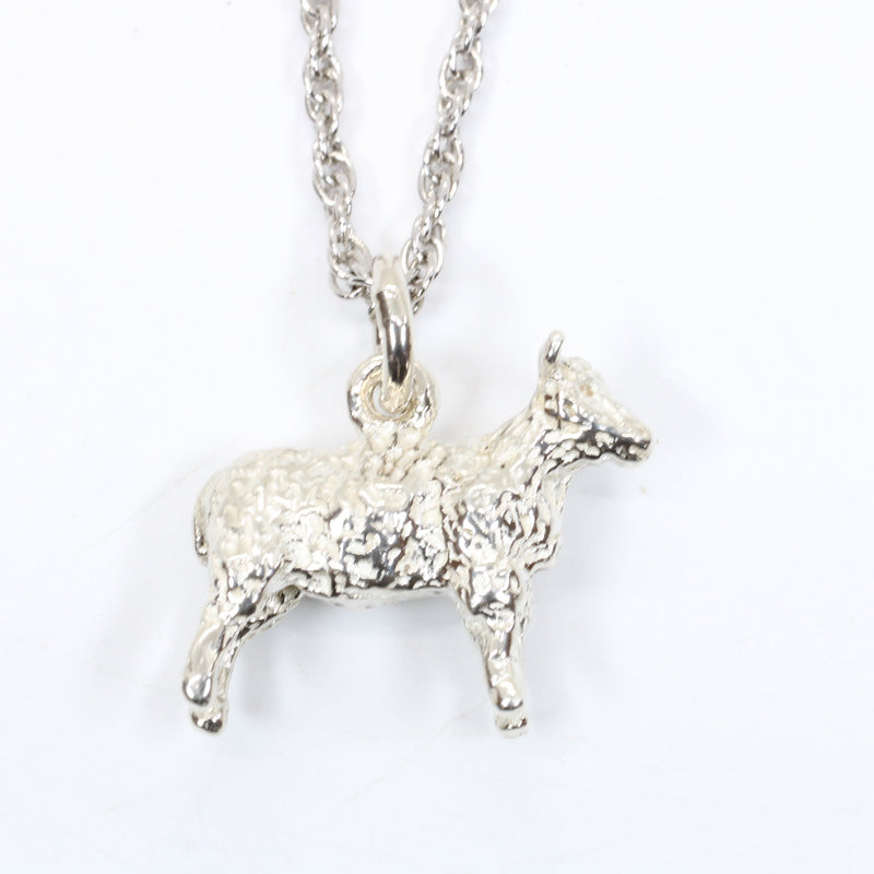 Silver Sheep Necklace made in Solid 925 Sterling Silver