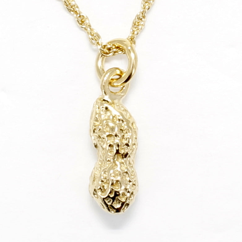 gold peanut necklace for new mom gift