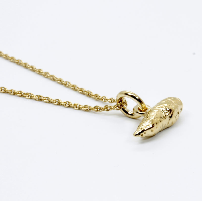 Small Sweet Potato Necklace For Her in 14kt gold vermeil