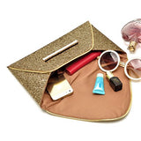 GOLD SEQUIN ENVELOPE STYLE CLUTCH