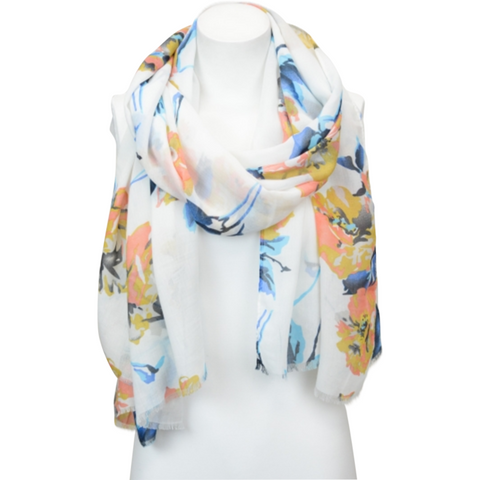 Beautiful Lightweight Floral Boho Scarf