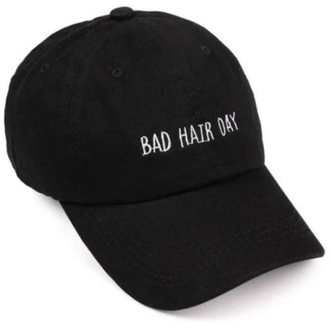 Bad Hair Day Embroidery  Baseball Cap ( Bold print)