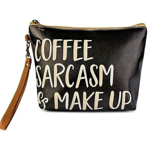 COFFEE & SARCASM COSMETIC STATEMENT BAG