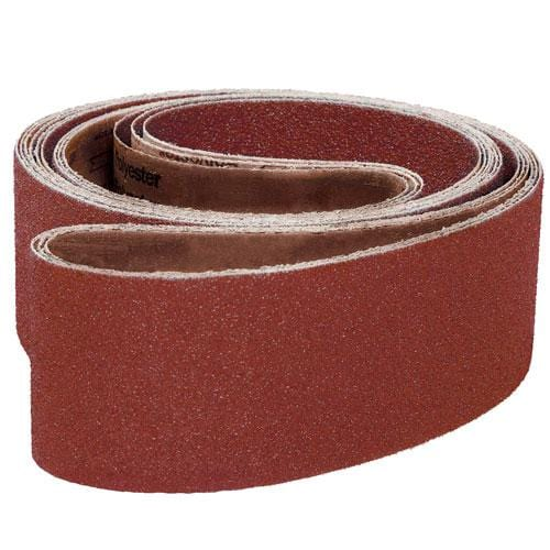 "4""W x 24""L Aluminum Oxide Abrasive Sanding and Grinding Belts"