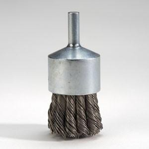 "GBC-12 : 1-1/8"" Ultra Duty Carbon Removal End Brush  : GOODSON"