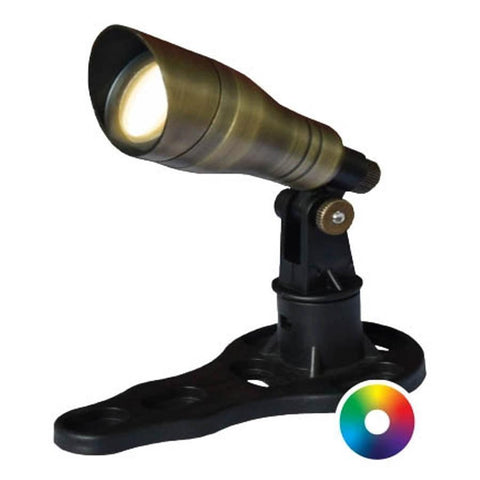 Anjon 3 Watt LED Color-Changing Spotlight-Anjon-Brass-Kinetic Water Features