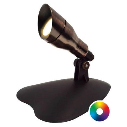 Anjon 3 Watt LED Color-Changing Spotlight-Anjon-Bronze-Kinetic Water Features