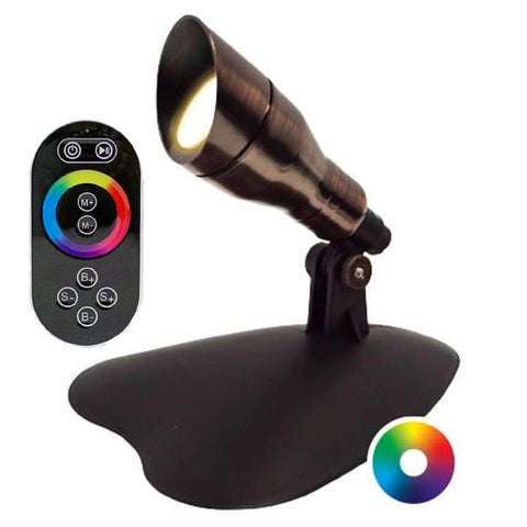 Anjon 3 Watt LED Color-Changing Spotlight with Controller Kit-Anjon-Bronze-Kinetic Water Features