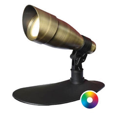 Anjon 9 Watt LED Color-Changing Spotlight-Anjon-Brass-Kinetic Water Features