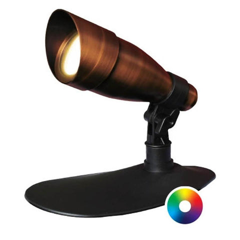 Anjon 9 Watt LED Color-Changing Spotlight-Anjon-Bronze-Kinetic Water Features