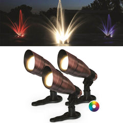 Anjon RGB Color-Changing LED Fountain Light Kit - (3) 9 Watt LED Color Changing Lights-Anjon-Kinetic Water Features