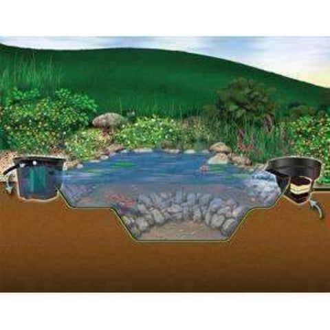 Aquascape 6 ft. x 8 ft. Backyard 500 Gal. MicroPond Kit 99764-pond kit-Aquascape-Kinetic Water Features