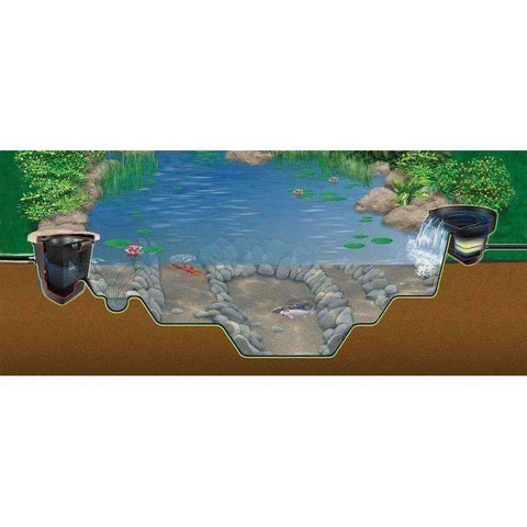 Aquascape Large 21 ft. x 26 ft. Pond Kit with Tsurumi 9PL Pump-pond kit-Aquascape-Kinetic Water Features