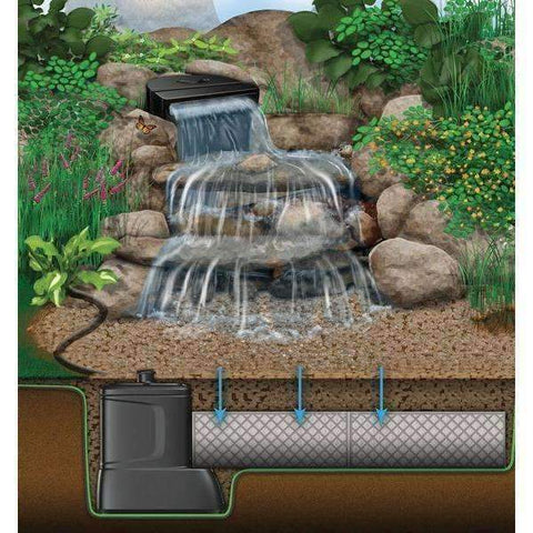 Aquascape Large Pondless Disappearing Waterfall with 26 ft Stream Kit and with AquaSurge 4000-8000 Pump-Waterfall-Aquascape-Kinetic Water Features