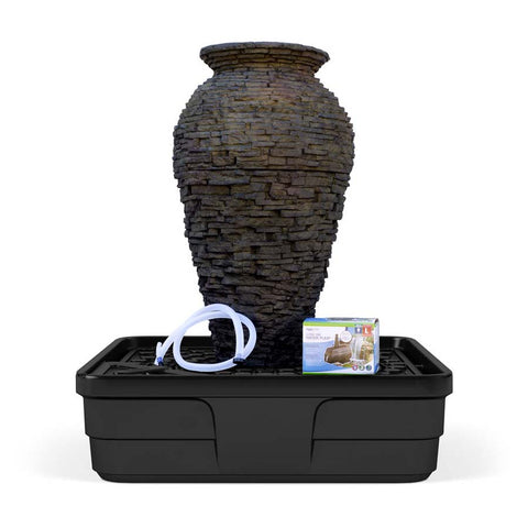 Aquascape Medium Stacked Urn Fountain Kit-fountain kit-Aquascape-Kinetic Water Features