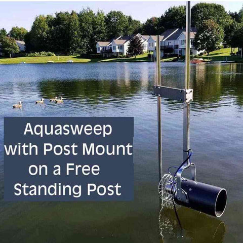 Aquasweep Dock Post Mounting Bracket by Scott-Water Mover-Scott Aerator-Kinetic Water Features