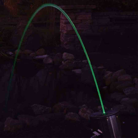 Arching Laminar Flow Stream Fountain with Multi-Color LED and Remote Control-Easy Pro-Kinetic Water Features