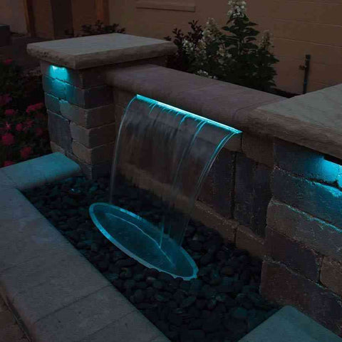 "Atlantic Color Changing Colorfalls 6"" 12"" 24"" 36"" Sizes-Waterfall-Atlantic Water Gardens-Kinetic Water Features"