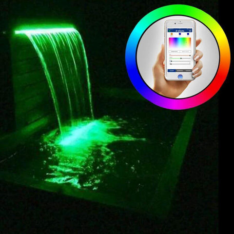 "Atlantic Color Changing Colorfalls 6"" 12"" 24"" 36"" Sizes-Waterfall-Atlantic Water Gardens-6"" Model CC06-Kinetic Water Features"