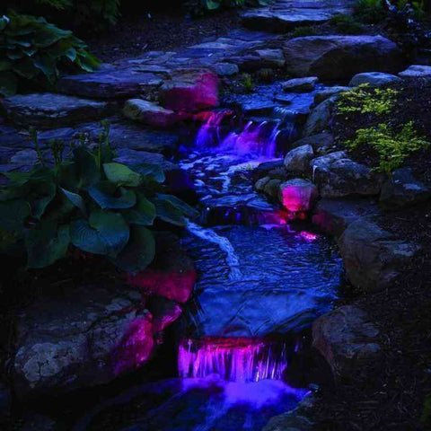 Atlantic Color Changing Compact LED Spotlight - 4 Watt with Inficolor Connector-Atlantic Water Gardens-Kinetic Water Features