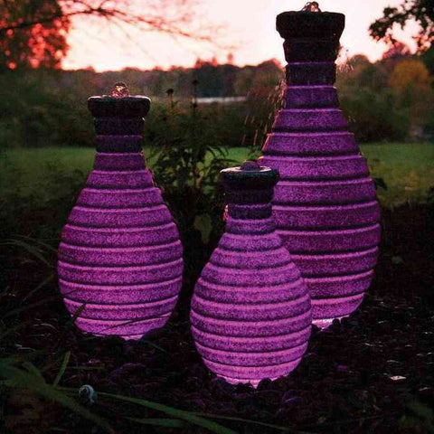 "Atlantic Color Changing Vase Fountains 18"" 24"" 32"" Sizes-fountain-Atlantic Water Gardens-Kinetic Water Features"