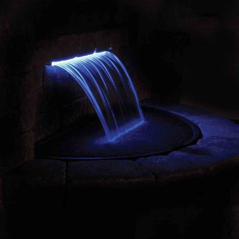Atlantic Colorfalls - Solid Color Sheer Lighted Backyard Waterfall Spillways-Waterfall-Atlantic Water Gardens-Kinetic Water Features