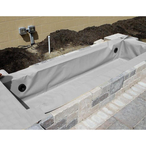 Atlantic Flexible Hardscape Basin Liner-Fountain Basin-Atlantic Water Gardens-4 Ft-Gray-Kinetic Water Features
