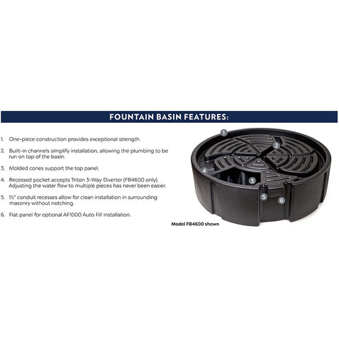 Atlantic Water Gardens Oasis Fountain Basin FB2400-Fountain Basin-Atlantic Water Gardens-Kinetic Water Features