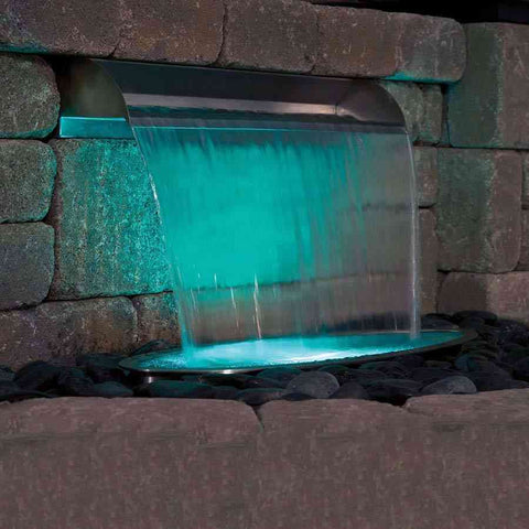 Atlantic Water Gardens Stainless Steel Copper Finish Spillways-Spillway-Atlantic Water Gardens-Kinetic Water Features