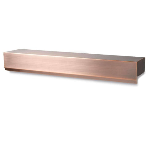 Atlantic Water Gardens Water Wall Spillways-water wall-Atlantic Water Gardens-Copper Finish-Kinetic Water Features