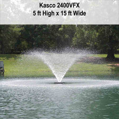 Kasco 2400VFX 1/2HP Aerating Pond Fountain