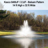 Image of Kasco 2HP 8400JF & 2.3JF Decorative Fountains-fountain-Kasco Marine-Kinetic Water Features