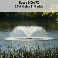 Kasco 3/4 HP 3400VFX Aerating Fountain in 120V and 240V