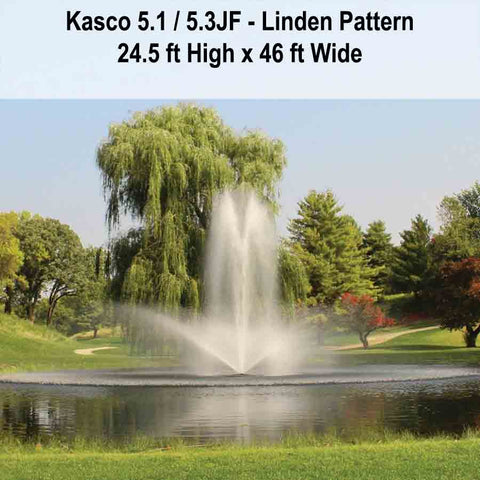 Kasco 5HP 5.1JF & 5.3JF Decorative Fountains-fountain-Kasco Marine-Kinetic Water Features