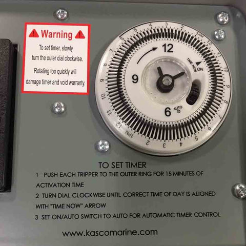 Kasco C-25 120V Control Panel with Timer/Photocell-Timer-Kasco Marine-Kinetic Water Features