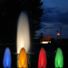 Kasco White LED Composite Fountain Lights with Colored Lenses
